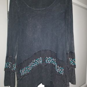 Adorable Western flare shirt